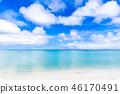 夏天圖像海,海灘,藍天關島 46170491