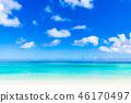 夏天圖像海,海灘,藍天關島 46170497
