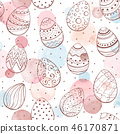 easter watercolor pattern 46170871