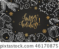 christmas doodles collection 46170875