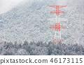 electric pole Winter Landscape 46173115