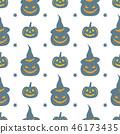 halloween pattern vector 46173435