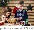 christmas, gingerbread, child 46174752