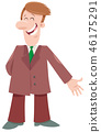 cartoon, businessman, character 46175291