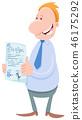 cartoon, businessman, character 46175292