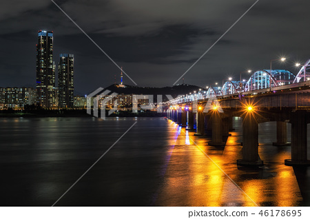 Dongjak bridge and Namsan tower 46178695