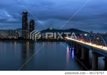 Dongjak bridge and Namsan tower 46178707