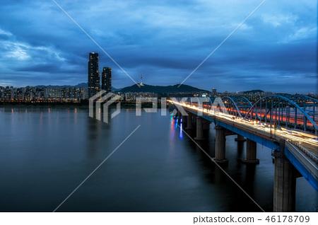 Dongjak bridge and Namsan tower 46178709