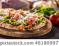 pizza, ham, food 46180997