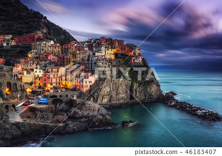 Manarola Magic during sunset hours 46183407