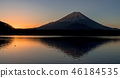 早上从Shoji湖的富士山 46184535