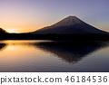 早上从Shoji湖的富士山 46184536
