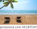 Couple beach chair 46184590