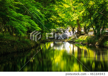 Seonunsa Reflections with a bridge 46184943