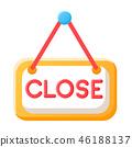 Close shop flat illustration 46188137