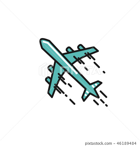 line airplane Icon 46189484