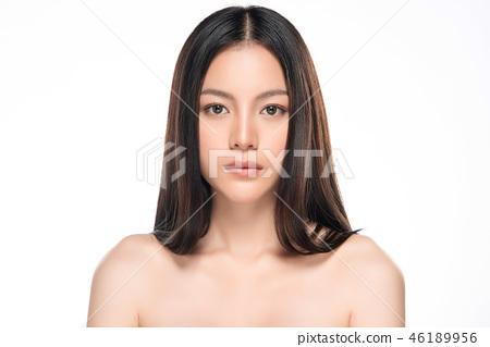 Beautiful Young asian Woman with Clean Fresh Skin 46189956