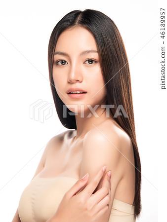 Beautiful Young asian Woman with Clean Fresh Skin 46189957