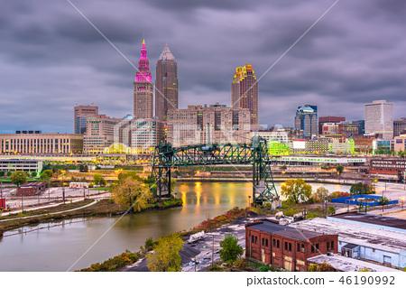 Cleveland, Ohio, USA Skyline 46190992