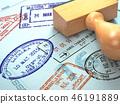 passport, travel, stamp 46191889