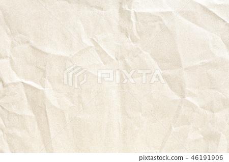 Brown crumpled paper texture 46191906
