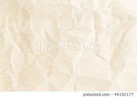 Crumpled old brown paper texture 46192177