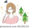 꽃가루가 심한 여성 일러스트 46194214
