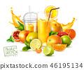 Fruit Juice Realistic Poster 46195134