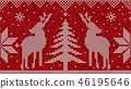 Red and white christmas seamless pattern 46195646