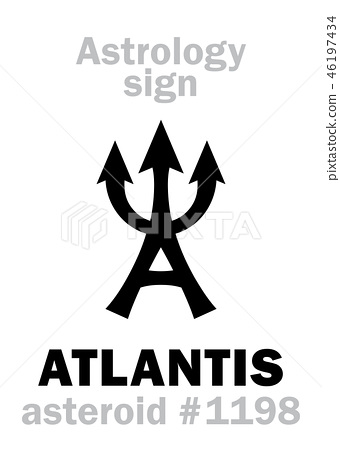 Astrology: asteroid ATLANTIS - Stock Illustration [46197434
