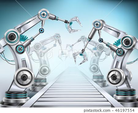 Robotic Arm Realistic Composition 46197554