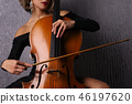 cello, cellist, bow 46197620