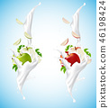 milk apple cosmetic 46198424