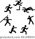 Heptathlete pictograms in a circle 46198604