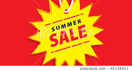Price tag summer promotion website banner heading 46198921