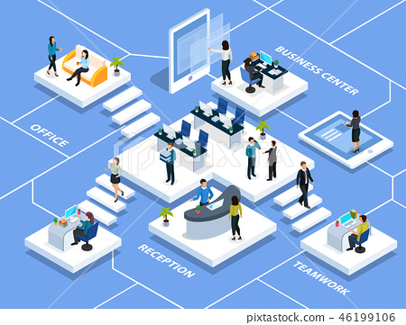 Office People Isometric Composition 46199106