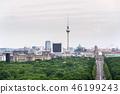 Berlin summer skyline aerial view from Tiergarten 46199243