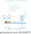 Patient under Anesthesia on Operating Table Vector 46199875