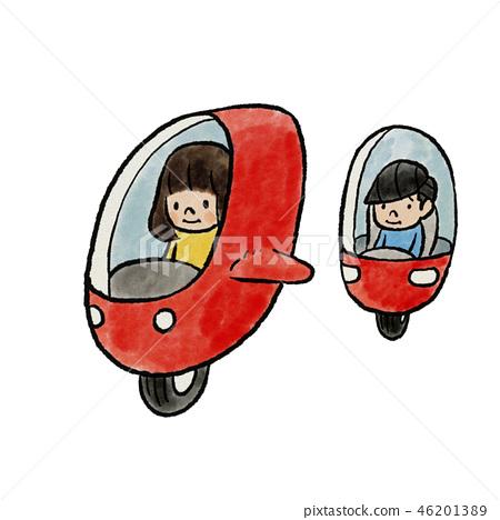 孩子騎未來的車輛 46201389