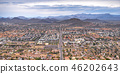 Downtown Arizona with mountains and cloudy sky 46202643