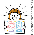 插圖素材:顯示肖像的女孩 46202813