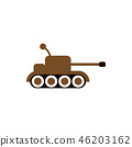 Cute tank graphic design template vector isolated 46203162