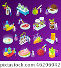 Artificial Food Isometric Icons 46206042