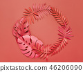 Bright Monstera and palm leaves. 46206090