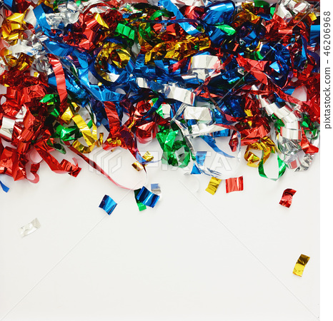 Background with scattered colorful confetti 46206968