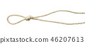 Beige cotton rope with knot and loop 46207613