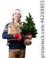 Man santa hat 46209855