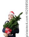 Man santa hat 46209856