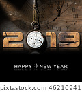 Happy New Year 2019 - Old Pocket Watch 46210941