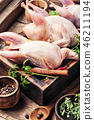 Fresh raw meat quails 46211194
